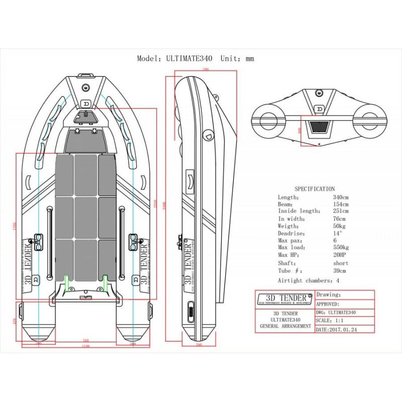 Ultimate Rib Alluminio 340